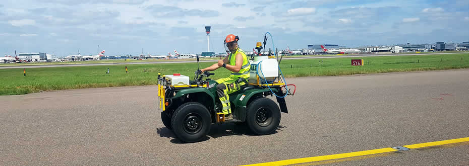Weed maintenance at Heathrow